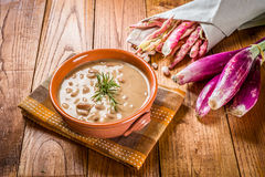 Pinto beans Soup - Zuppa di fagioli borlotti Royalty Free Stock Photo