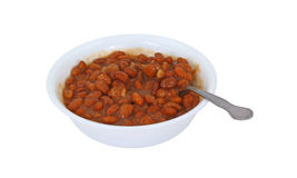 Pinto Beans with Spoon Royalty Free Stock Images