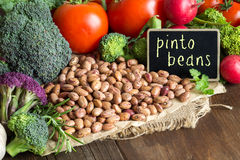 Pinto beans and vegatables Royalty Free Stock Photos
