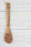 Pinto Beans Wooden Spoon photographie stock libre de droits