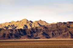 Pinto Mountains in the Mojave Desert. Pinto Mountains at Joshua Tree National Park in the Mojave Desert stock photography