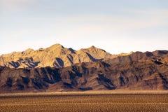 Pinto Mountains nel deserto del Mojave fotografia stock