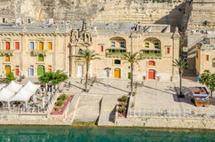 Pinto Wharf or Pinto Stores in Valletta. Valletta, Malta - June 4, 2017:  Part of Valletta Waterfront, also known as Pinto Wharf or Pinto Stores, a baroque wharf Stock Photos