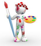Pintor. Imagem de Stock Royalty Free