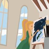 Pintor stock de ilustración