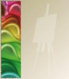 Pintor abstracto del fondo Stock de ilustración