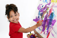 Pintor adorable Imagen de archivo libre de regalías