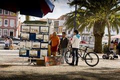 Pintor Aveiro Portugal Imagenes de archivo