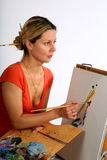 Pintor bonito foto de stock royalty free