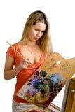 Pintor bonito Imagem de Stock Royalty Free