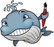 Pintor da baleia Foto de Stock Royalty Free