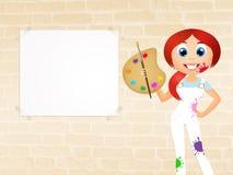 Pintor da menina Fotografia de Stock