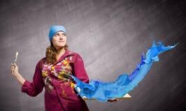 Pintor da mulher Imagem de Stock Royalty Free