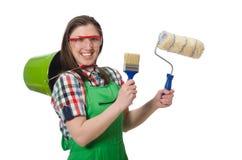 Pintor da mulher Imagens de Stock