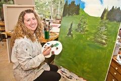 Pintor da paisagem Fotografia de Stock