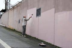 Pintor da parede Fotografia de Stock Royalty Free