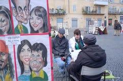 Pintor da rua Fotos de Stock Royalty Free