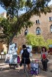 Pintor da rua em Mallorca Fotografia de Stock Royalty Free