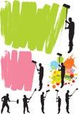 Pintor de casa Fotografía de archivo