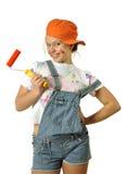 Pintor de casa alegre Foto de Stock Royalty Free