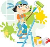 Pintor de casa de ?heerful Fotografía de archivo libre de regalías