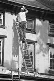 Pintor de casas, calle del norte de la unión, Lambertville, NJ Imagen de archivo
