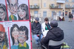 Pintor de la calle Fotos de archivo libres de regalías