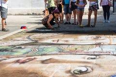Pintor de la calle Imagen de archivo libre de regalías