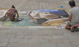 Pintor de la calle Fotografía de archivo