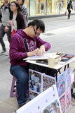 Pintor de la calle de Taipei Fotografía de archivo libre de regalías