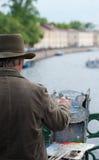 Pintor de la calle, St Petersburg Imagen de archivo
