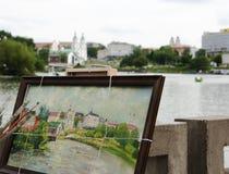 Pintor de la ciudad Imagenes de archivo