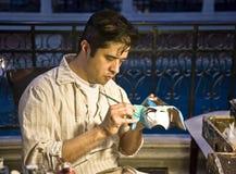 Pintor de la máscara, hotel veneciano Imagen de archivo libre de regalías