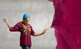 Pintor de la mujer fotos de archivo