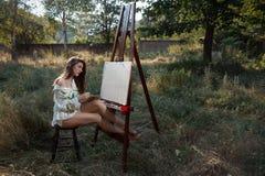 Pintor de la naturaleza Imagenes de archivo