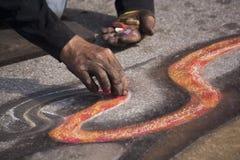 Pintor de la tiza Foto de archivo libre de regalías