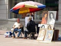 Pintor de retrato Imagens de Stock
