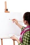 Pintor de sexo femenino Fotografía de archivo libre de regalías