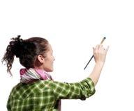 Pintor de sexo femenino Imagen de archivo
