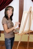 Pintor de sorriso Fotografia de Stock Royalty Free