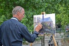 Pintor del artista Imagen de archivo libre de regalías