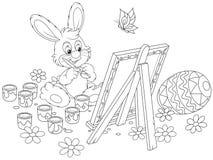Pintor del conejito de pascua libre illustration