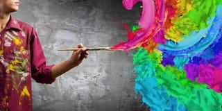 Pintor del hombre imagenes de archivo