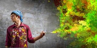 Pintor del hombre Imágenes de archivo libres de regalías
