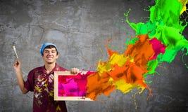 Pintor del hombre fotos de archivo libres de regalías