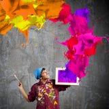 Pintor del hombre imagen de archivo libre de regalías