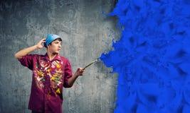 Pintor del hombre foto de archivo libre de regalías