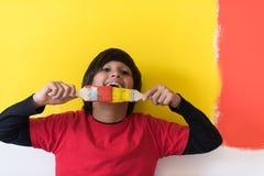 Pintor del muchacho Imagen de archivo libre de regalías