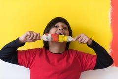 Pintor del muchacho Fotos de archivo libres de regalías
