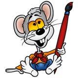 Pintor del ratón stock de ilustración